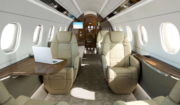 Legacy 500 Private Jet Interior