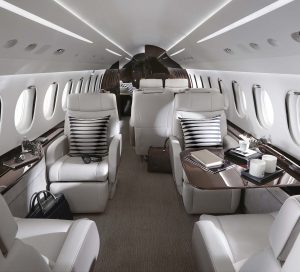 Falcon 8X Private Jet Cabin