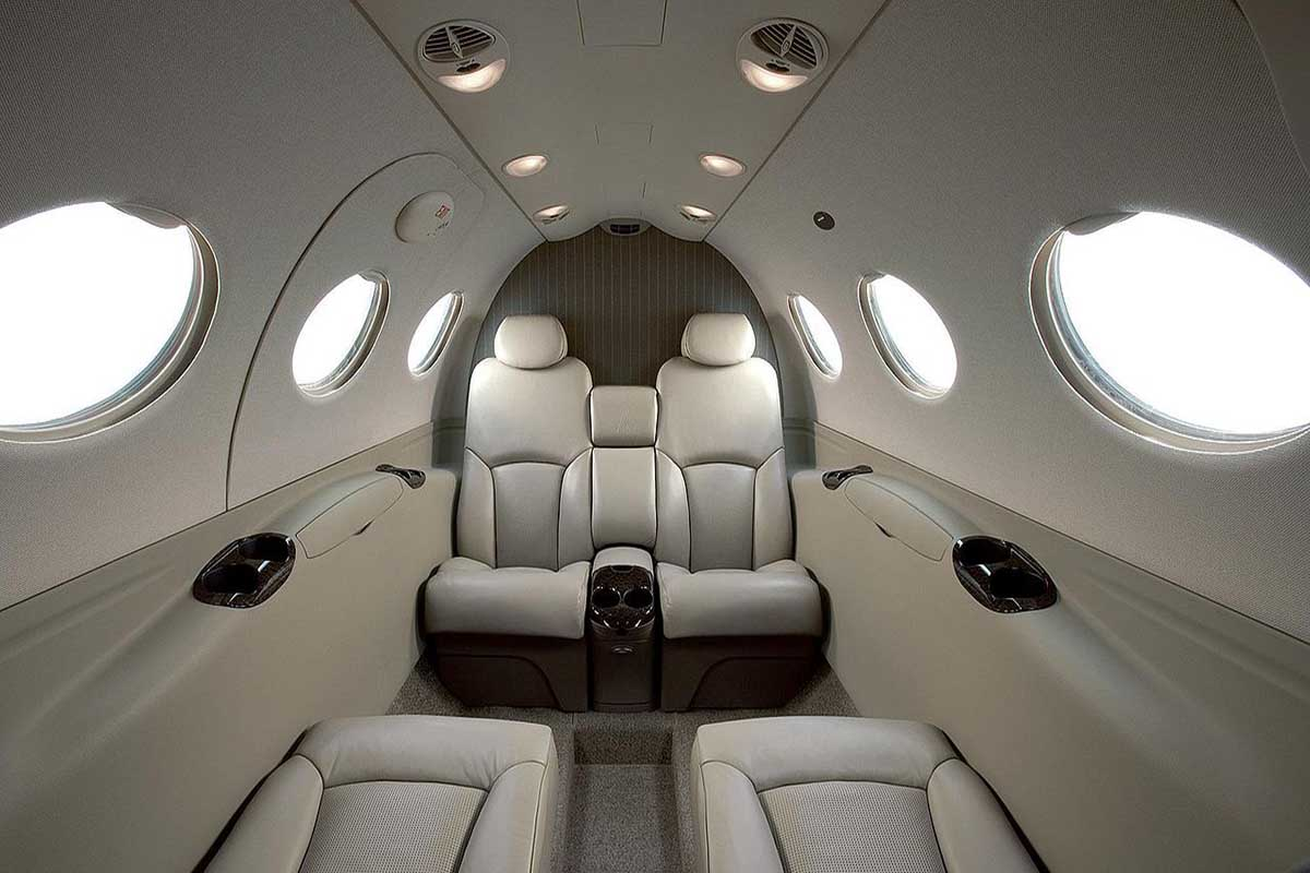 Citation Mustang Private Jet Cabin