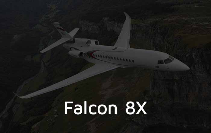 Hire A Falcon 8X Private Jet