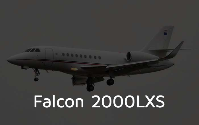 Falcon 2000LXS Private Jet Hire