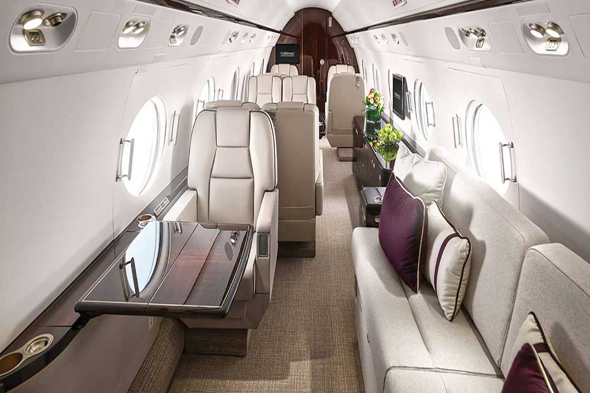 Gulfstream 550 Private Jet Interior