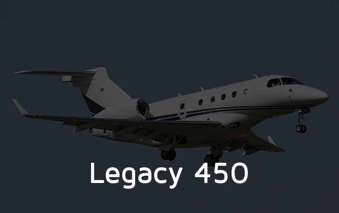 Hire A Legacy 450 Private Jet