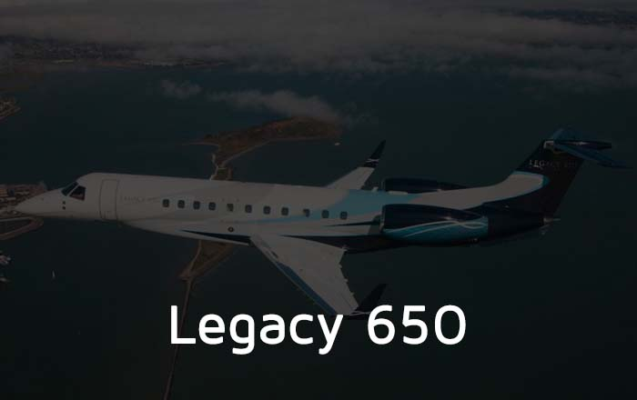 Hire A Legacy 650 Private Jet
