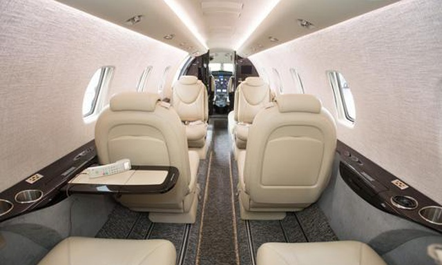 Citation XLS Private Jet Cabin