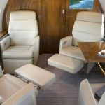 Global 6000 Private Jet Interior Club Seating