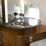 Global 6000 Private Jet Washroom