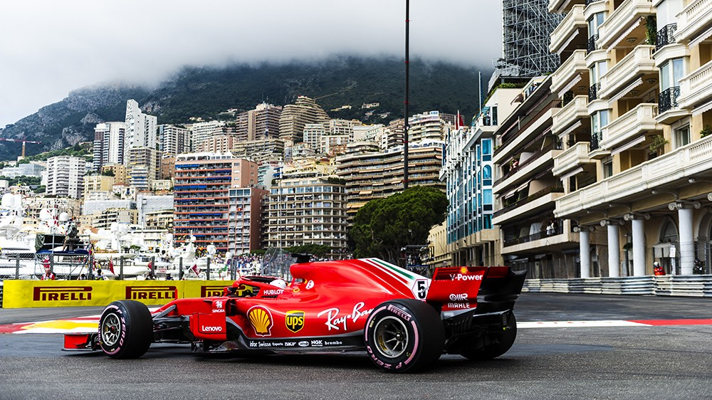 Ferrari car at the Monaco Grand Prix