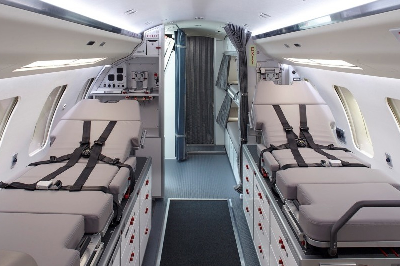 Private Jet Air Ambulance Cabin