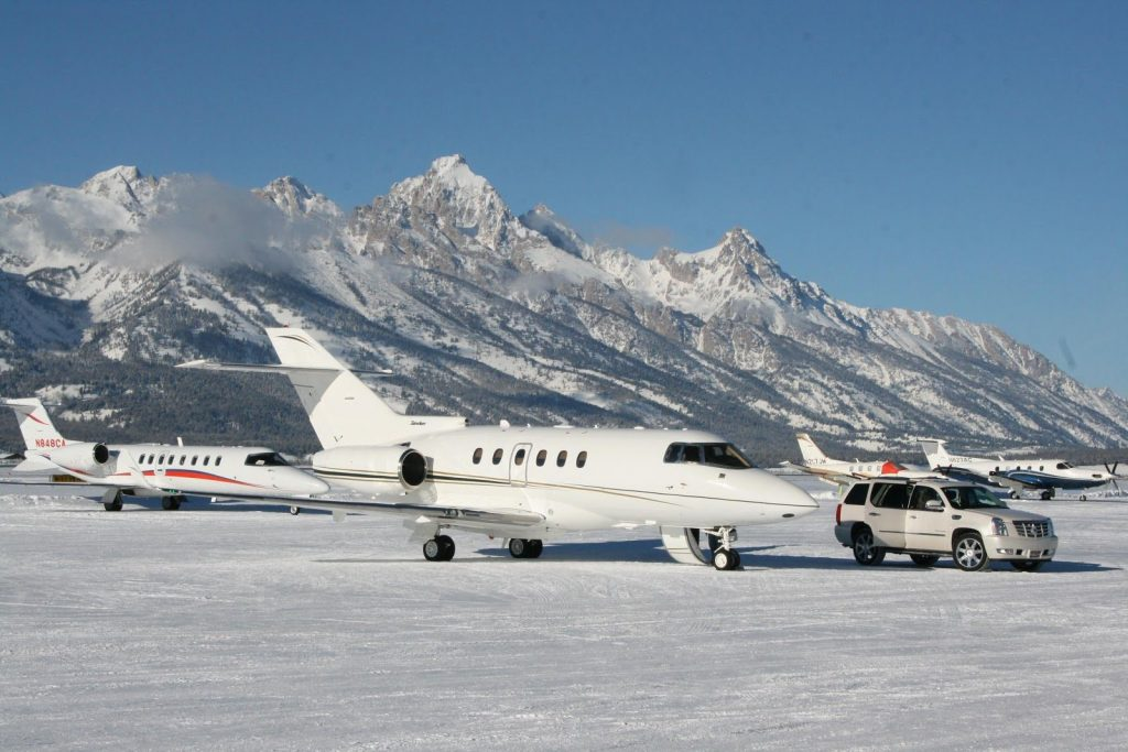Skiing by Private Jet